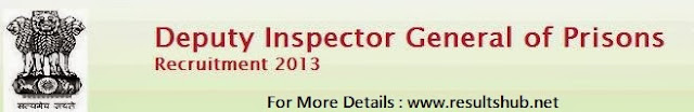 Maharashtra Prisons DIG Recruitment 2014