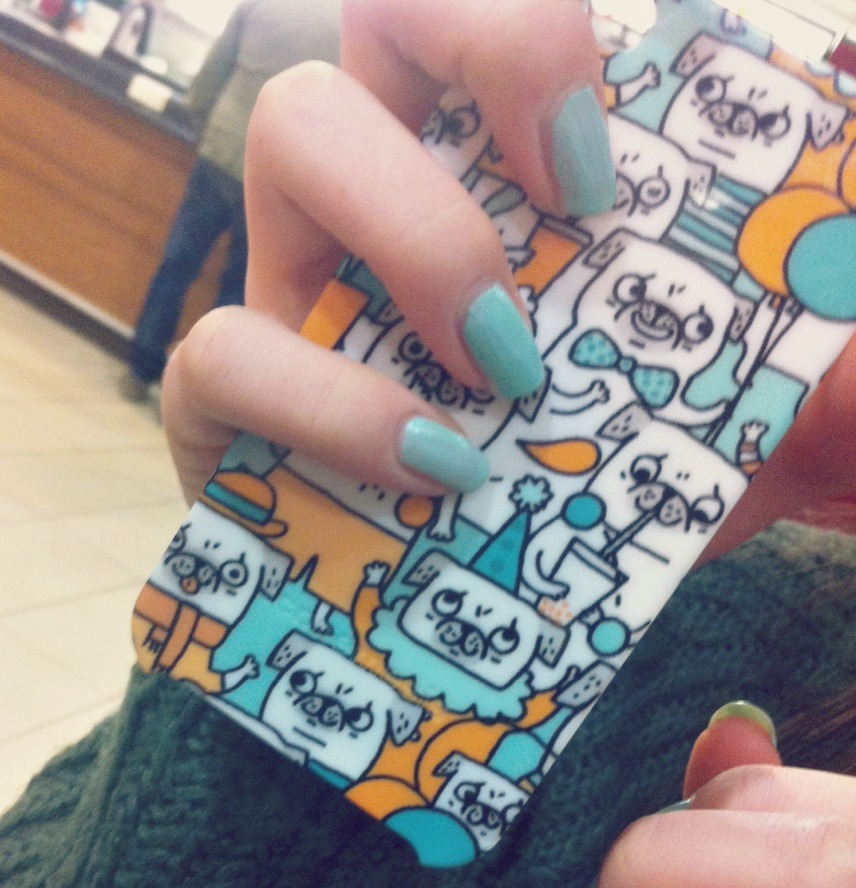 the body shop mint cream nails iconomesis pug iphone case