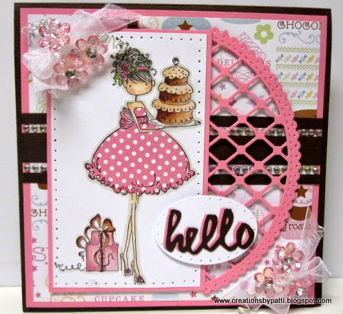 Creations by patti ava loves to celebrate bday card e01 e11 e21 e13 e15 e18 yg17 w1 w3 w5 w7 r20 r81 r83 r85 a stampin up paper piercer template used around the white card stock mat pronofoot35fo Gallery