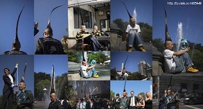 desainer dari Jepang yang memiliki rambut mohawk terpanjang di dunia