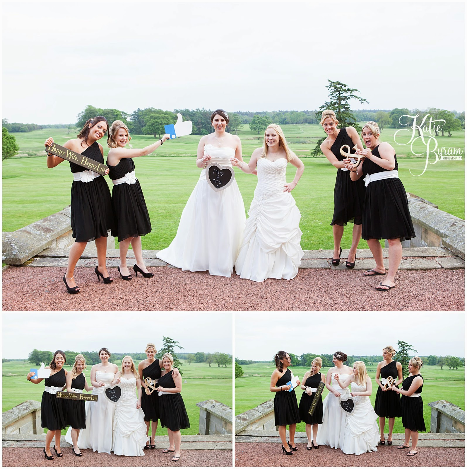 matfen hall wedding, matfen hall, northumberland wedding, newcastle united wedding, lesbian wedding, two bride wedding, lgbt wedding, gay wedding, civil partnership, powder and pin ups make up, katie byram photography, bride and bride, two weddiing dresses, mao couture bridal, jean hepple florist,