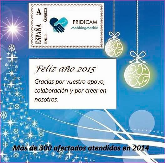 Mobbing Madrid Feliz año 2015, más de 300 afectados atendidos en 2014