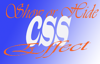 show or hide css effect