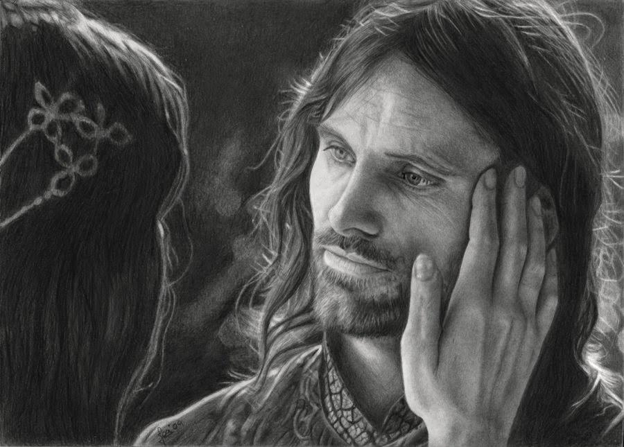 07-Aragorn-Viggo-Mortensen-Arwen-Liv-Tyler-Josi-Fabri-Esteljf-The Hobbit-LotR-www-designstack-co