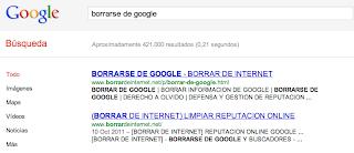 borrarse google