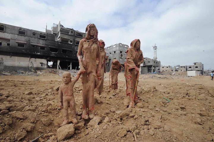 Esculturas de Guerra por Iyad Sabbah