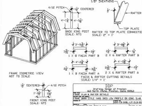 Roof Sheds Plans | How to Build Gambrel Roof Sheds Step by Step ...