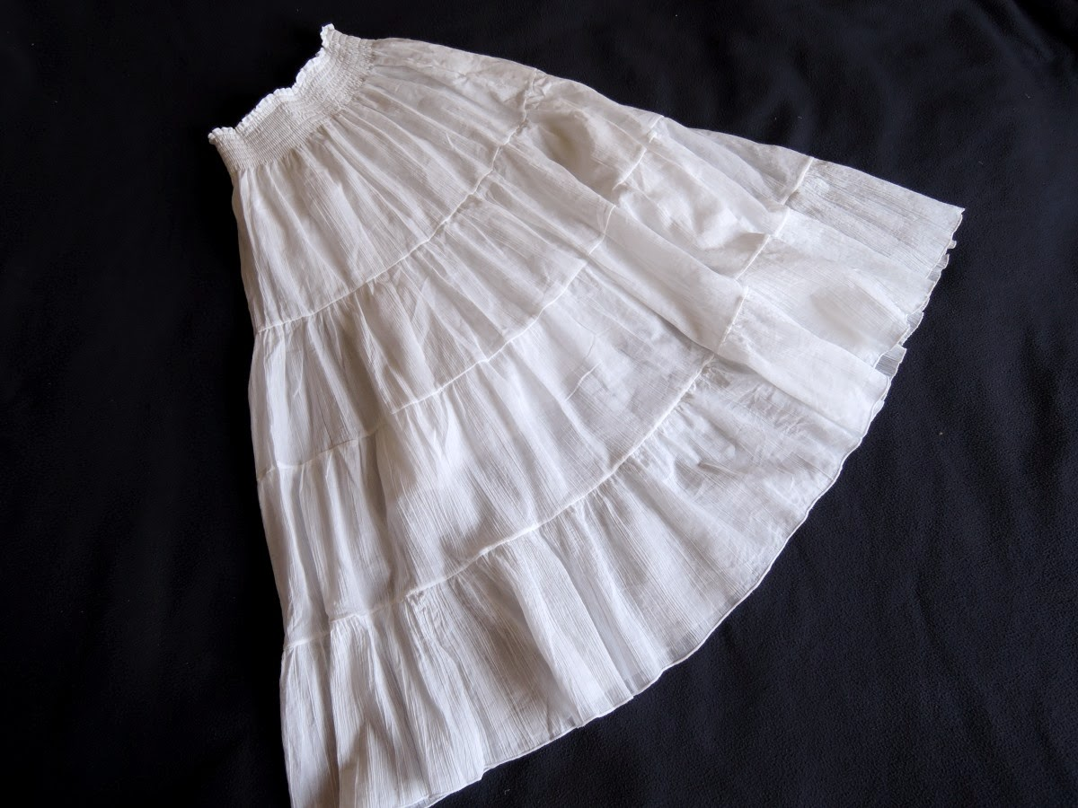 белая юбка ярусами