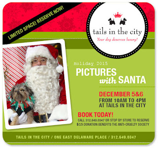 Pictures With Santa, Tails in the City, Santa Pictures