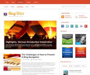 MagWire Magazine Wordpress Theme
