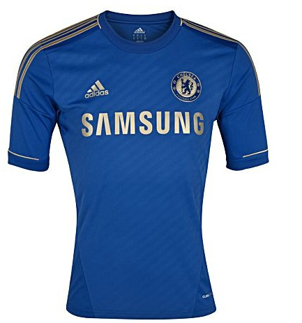 Chelsea 2012 2013 Local Azul Y Dorada   Home Kit Chelsea 2012 2013