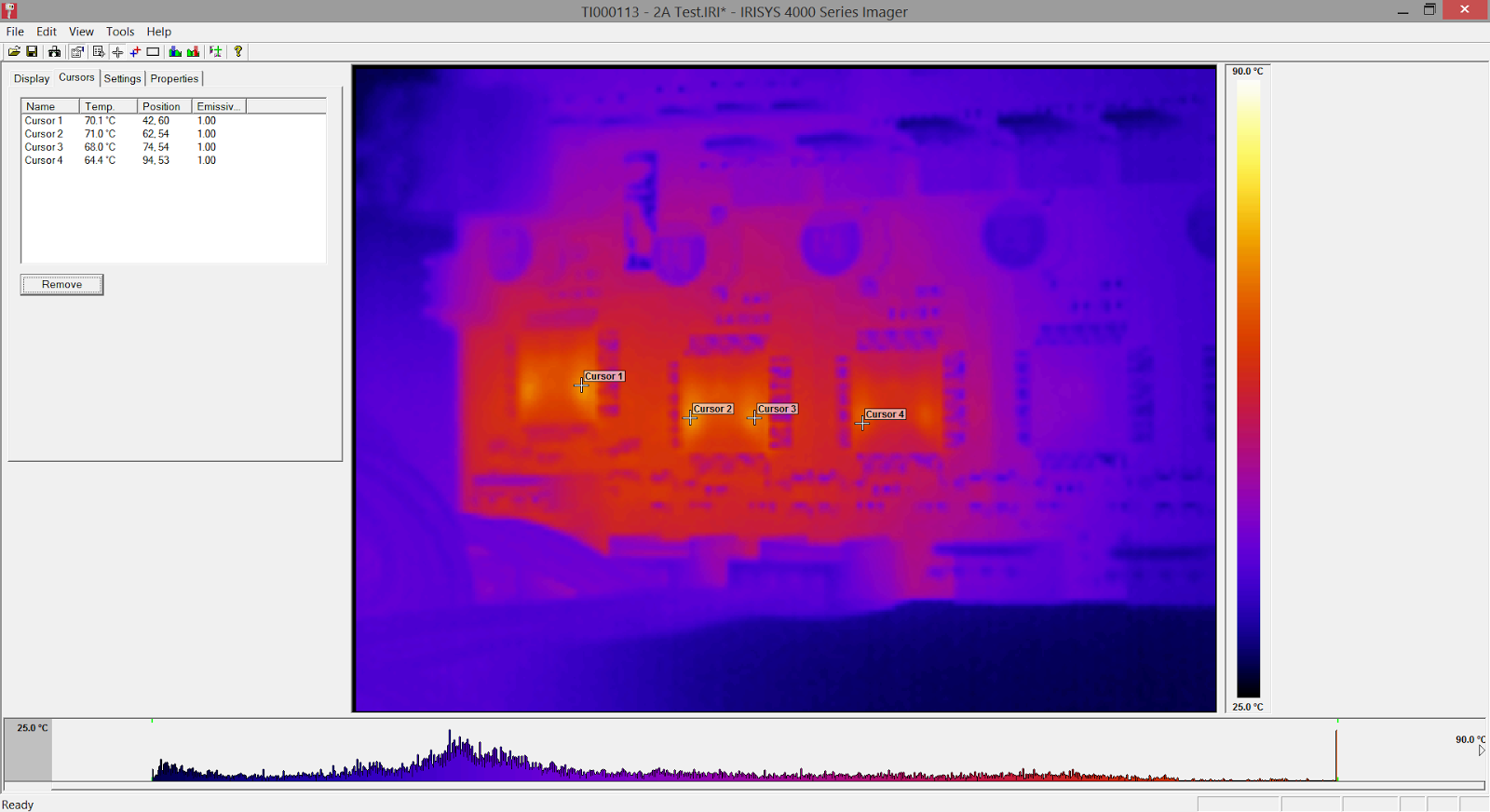 DuetWifi Thermal Test 2A Normal Stepping