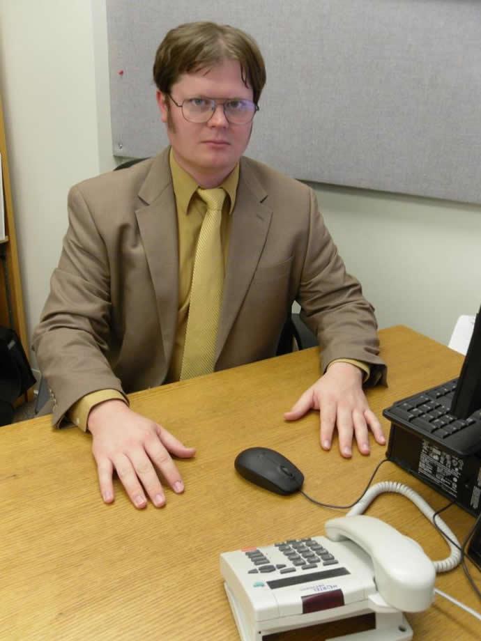 Este não é Dwight Schrute