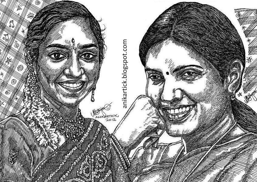 Line Drawing Portrait Artists : Pencil portraits