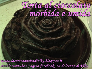torta al cioccolato morbida e umida