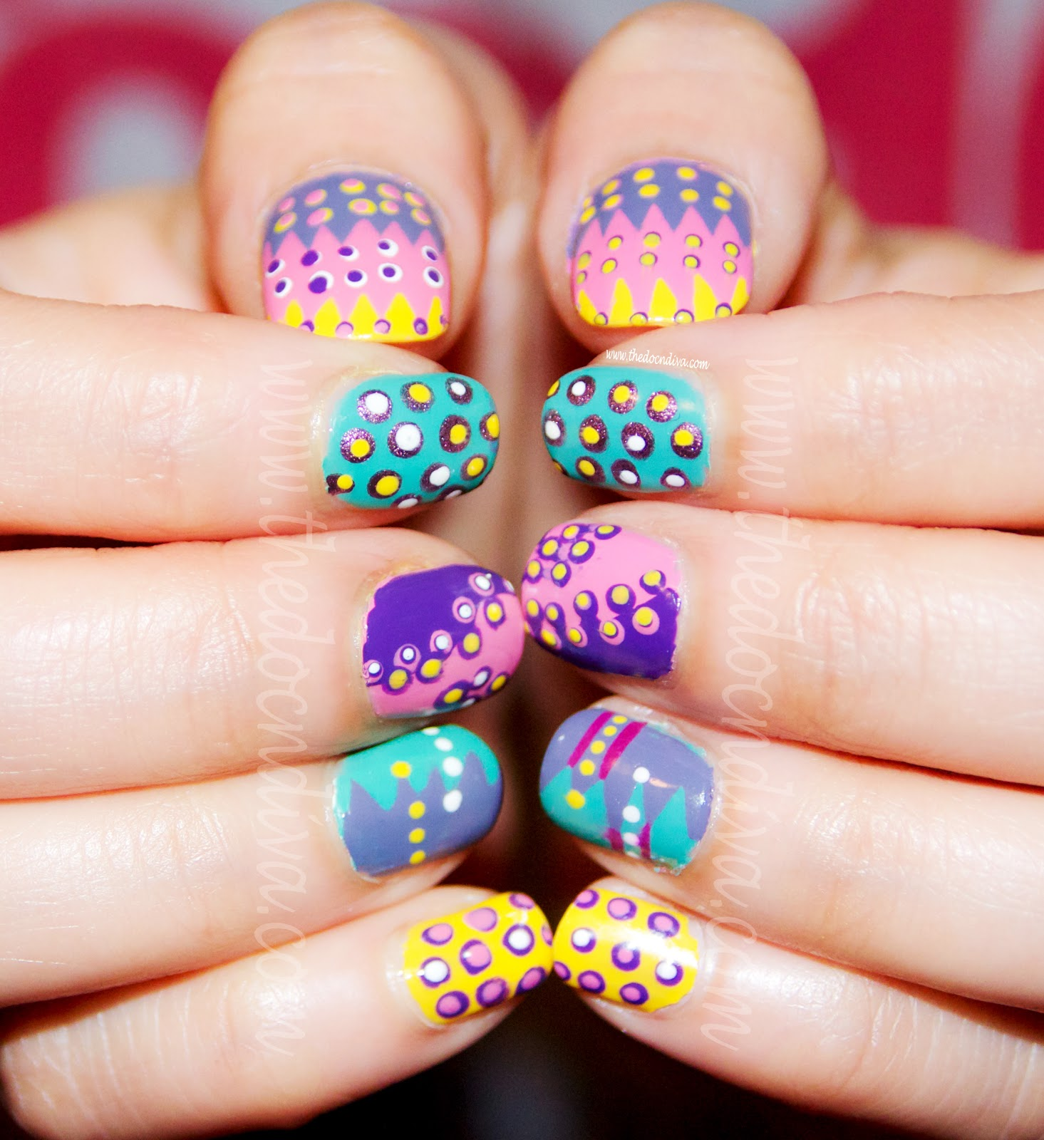 How To Nail Art For Easter And Holi Festivities Thedocndiva