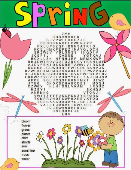 easy spring word search for kids 1