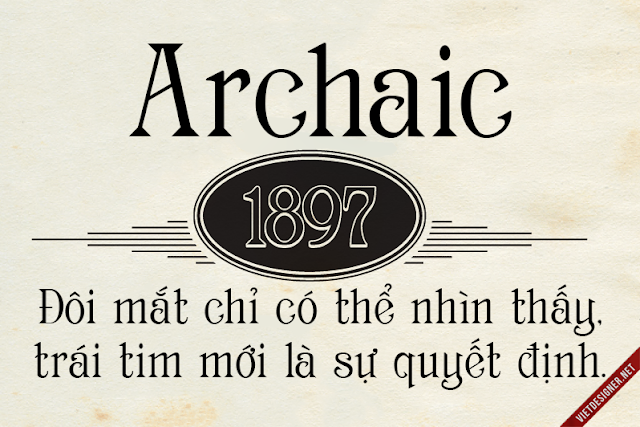 [Serif] Archaic 1987 Việt hóa