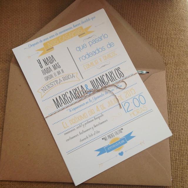Nuestras invitaciones. Invitaciones de una boda DIY