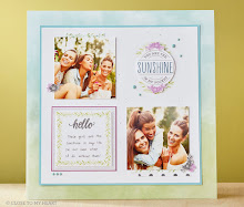 February Stamp of the Month  Scrapbook Layout