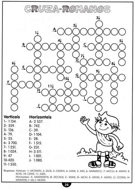atividades numeração romana