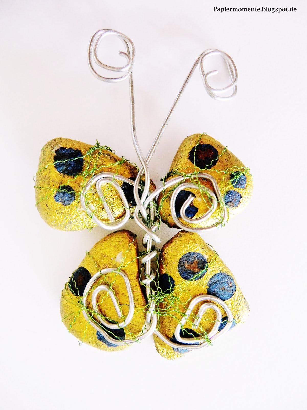... lassen und fertig ist der wunderschöne Schmetterling aus Steinen