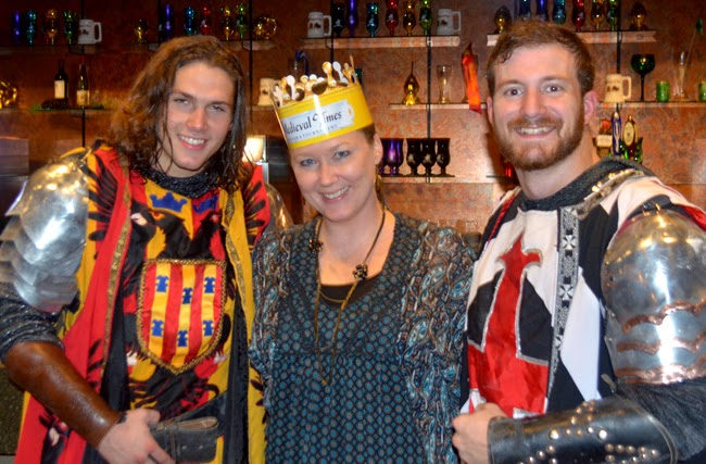 Lady Ashley with Knights of Medieval Times Atlanta