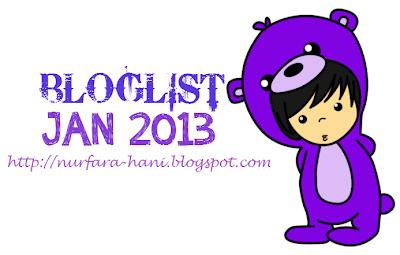 Pencarian Bloglist Januari 2013 by Nurfara Hani