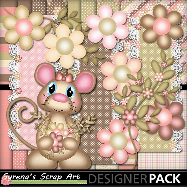 A Chocolate Mouse Digital Scrapbook Kit