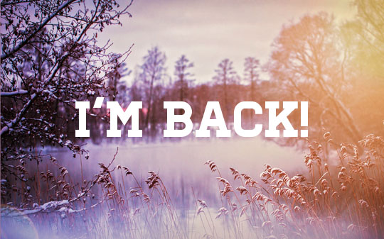 I'm back image