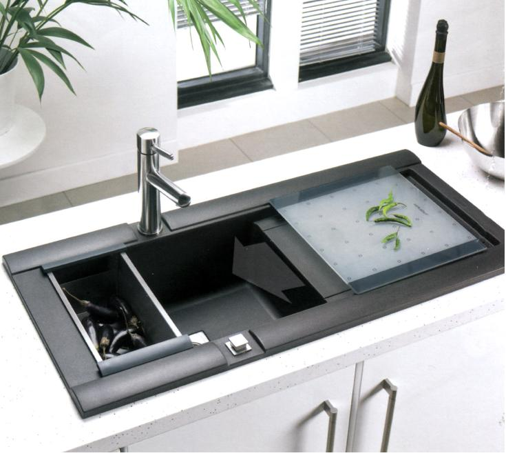 Kitchen design corner sink kitchen design corner sink for Contemporary kitchen sinks ideas