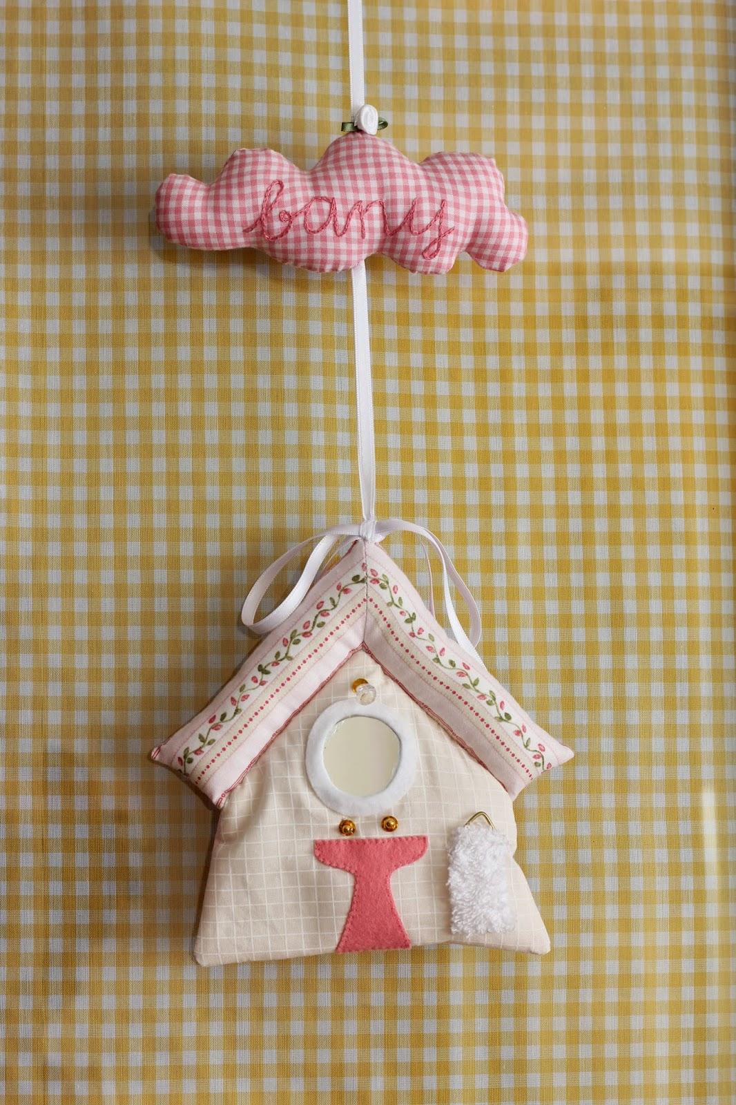 Mi hogar de patchwork casita para la puerta del ba o - La casita del patchwork ...