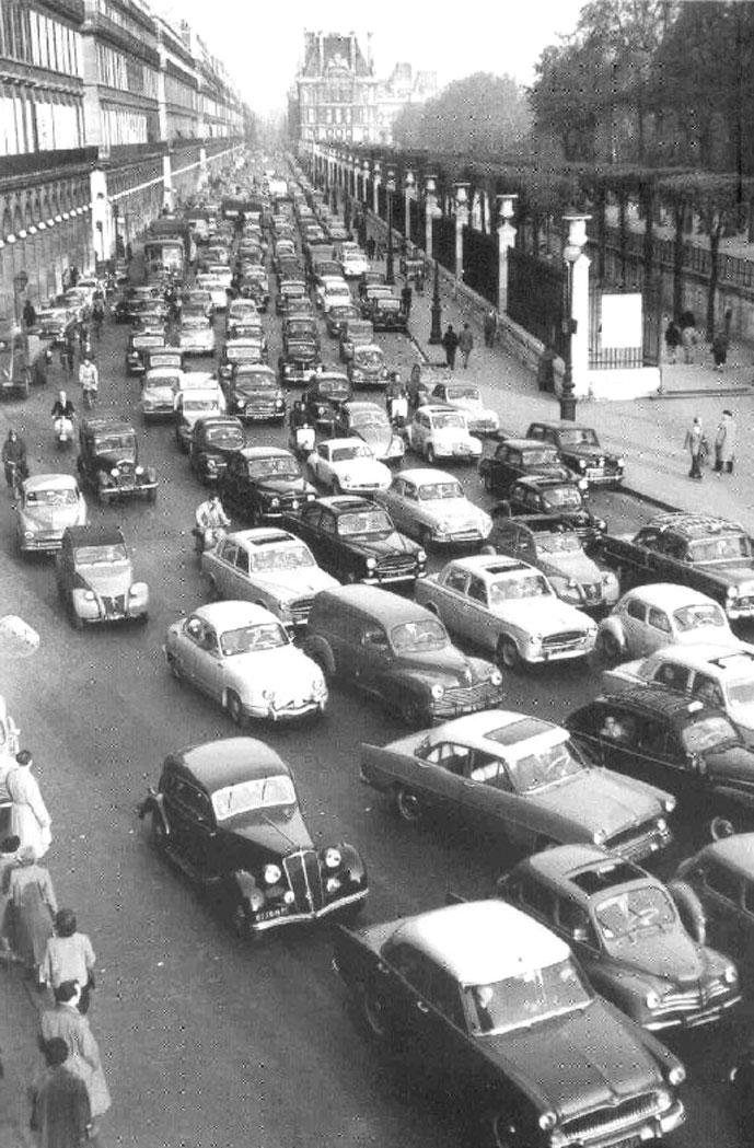 Paris streets in 1957