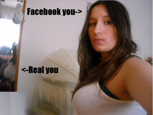 Facebook photo fail vs real photo