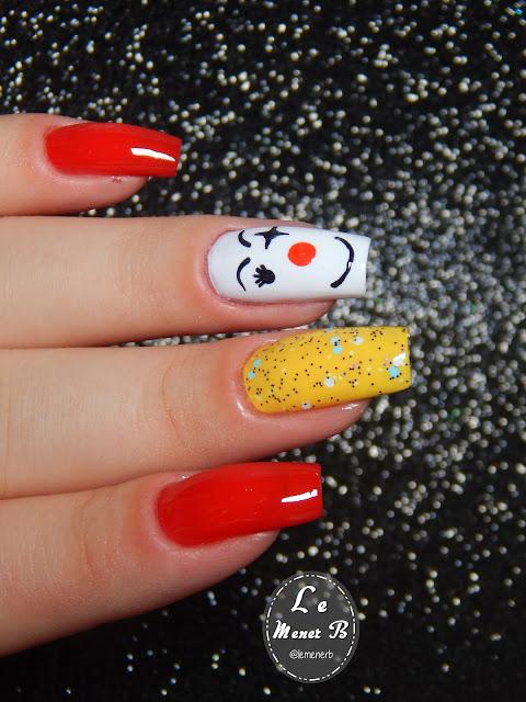 nail art de palhaço
