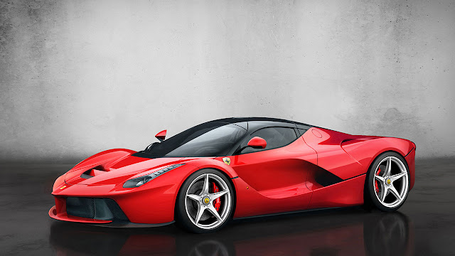 The Ferrari Laferrari front side