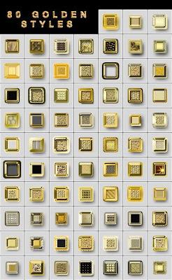 ستايلات فوتوشوب ذهبية 80 Golden Styles Arab-Design