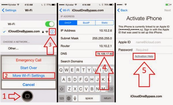 bypass icloud activation lock iphone 6