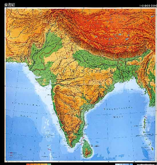 geography maps of south asia