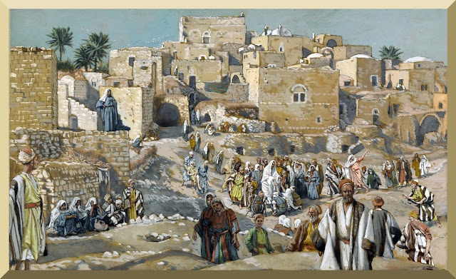 """He Went Through the Villages on the Way to Jerusalem"" -- by James Tissot"