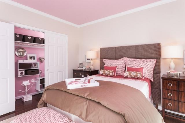 Habitaciones en rosa y marrón  Dormitorios colores y estilos