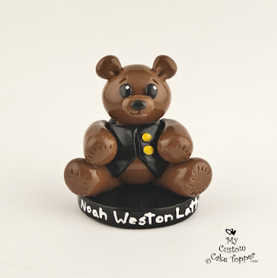 baby bear birthday cake topper