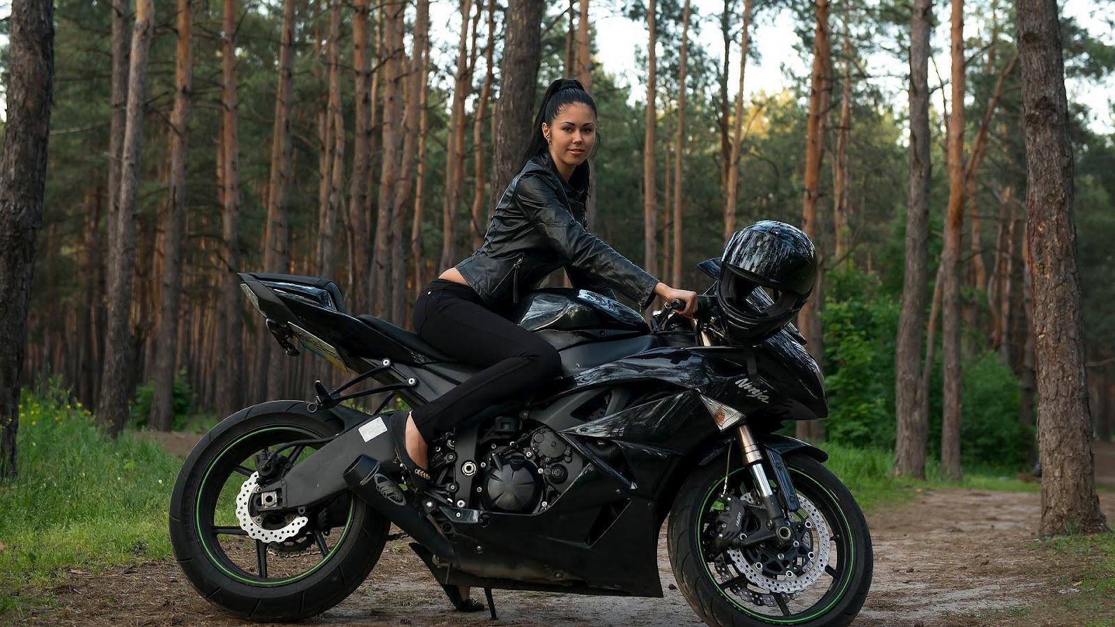 Фото девушек на мотоцикле в высоком качестве 11 фотография