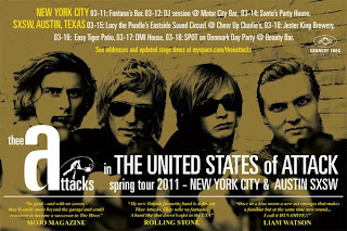 Thee Attacks - Danish Garage Rock Band Plays Two NYC Shows in Advance of SXSW