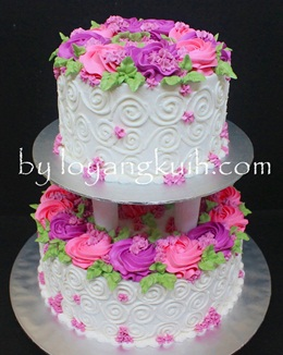 2tiers Buttercream Wedding Cake