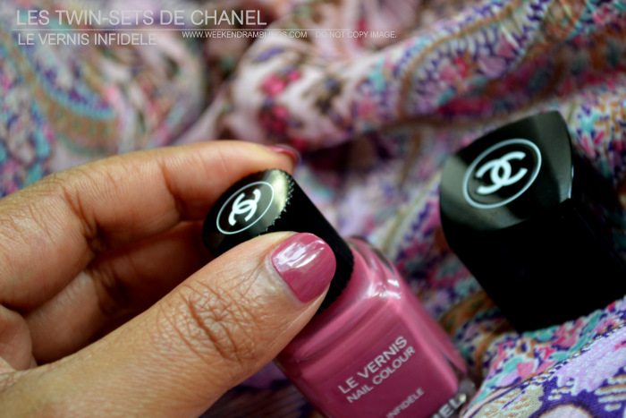 Chanel Makeup Le Vernis Infidele Nail Polish Indian Beauty Blog Review NOTD Swatches Fashions Night Out FNO Limited Edition Les Twin Sets