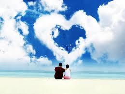 GAMBAR ROMANTIS CINTA Pasangan Kekasih Mesra Awan ASmara