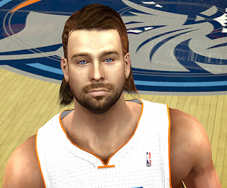 NBA 2K14 Josh McRoberts Long Hair Cyberface