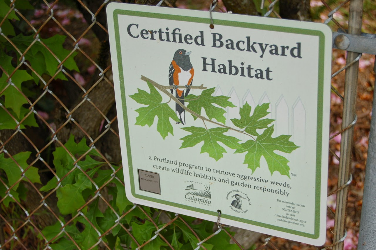 Certified Backyard Habitat secondhand goods: certified (front)yard habitat, st. johns
