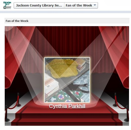 Screen capture: Jackson County Library Services' Fan of the Week on Facebook